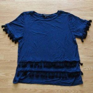 Romeo & Juliet Couture Double Tassel Tee | Size S
